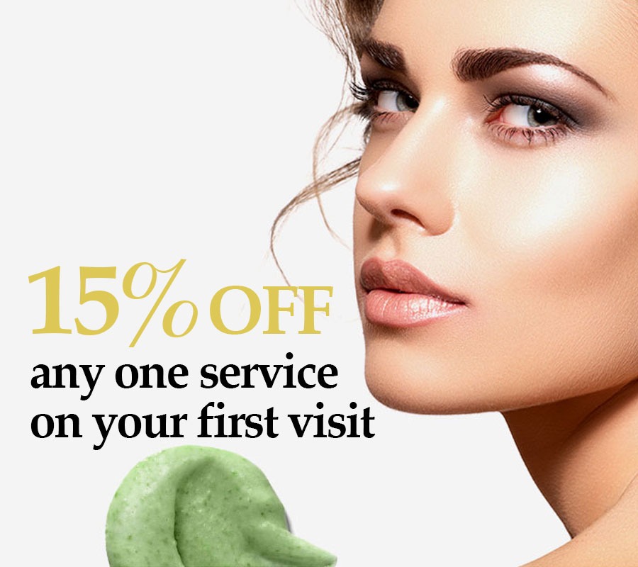 15 percent off for new clients