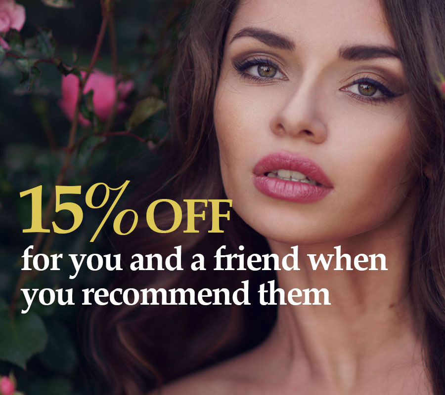 Recommend your friends and save 15 percent